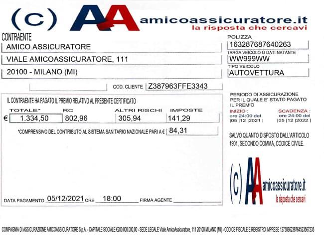Cos 39 a cosa serve e come funziona il certificato di for Allianz condizioni generali di assicurazione